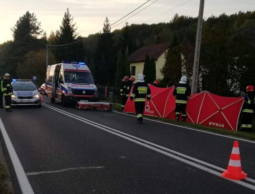 Wypadek na granicy Jawiszowic i Zasola. Motocyklista w poważnym stanie. ZD