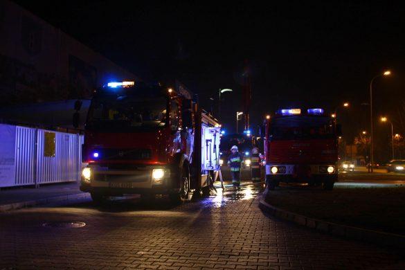OPIS AKCJI: Pożar dworca kolejowego w Oświęcimiu. FILM, ZDJĘCIA!