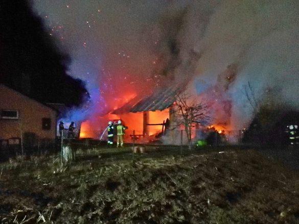 Nocny pożar w Palczowicach – FILM, ZDJĘCIA!