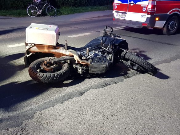 Wypadek z udziałem motocyklisty w Zaborzu – ZDJĘCIA!