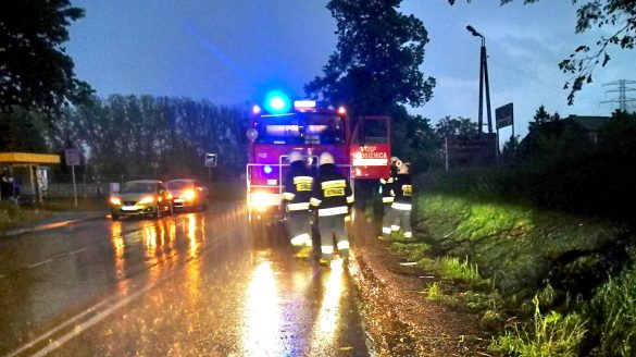 Zdarzenie drogowe na DK44 we Włosienicy – ZDJĘCIA!