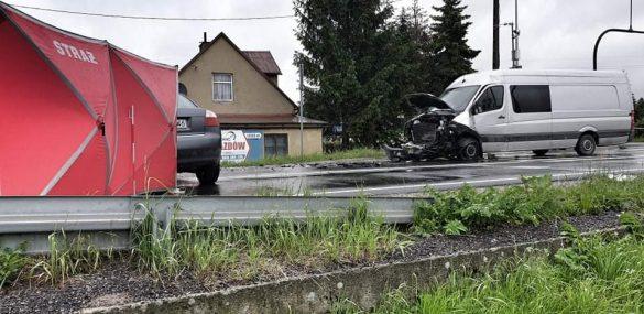 Jedna osoba nie żyje a jedna została ranna w wypadku w Zaborzu – ZDJĘCIA, FILM!