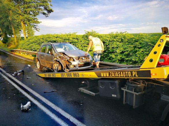 Kolejne niebezpieczne zdarzenie na DK44 – ZDJĘCIA!