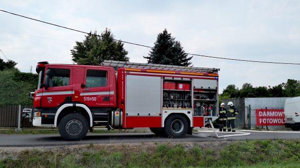 Uszkodzony gazociąg w Brzeszczach –