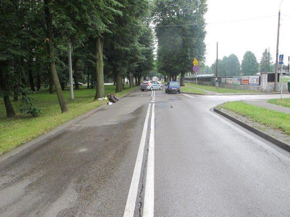 Wczorajszy wypadek drogowy w Kętach – ZDJĘCIA!