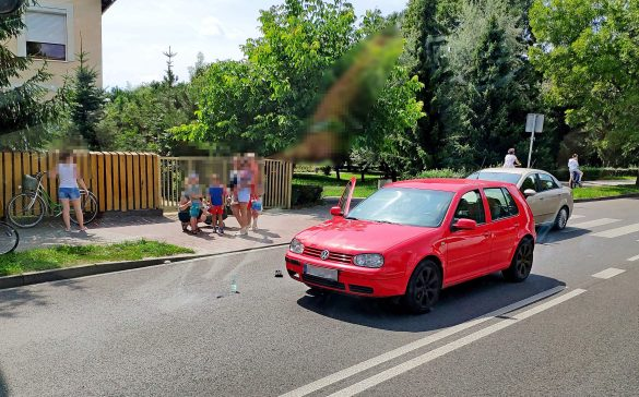 Potrącenie rowerzystki w rejonie przejścia dla pieszych – ZDJĘCIA