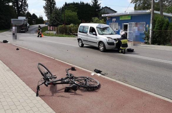 Poważny wypadek w Jawiszowicach. Na miejscu ląduje Śmigłowiec LPR – ZDJĘCIA!