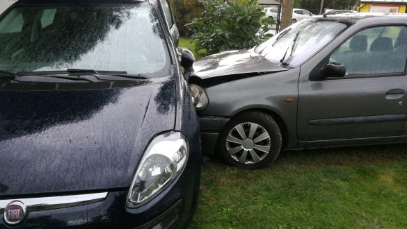 Wypadek drogowy w Zatorze. ZDJĘCIA!