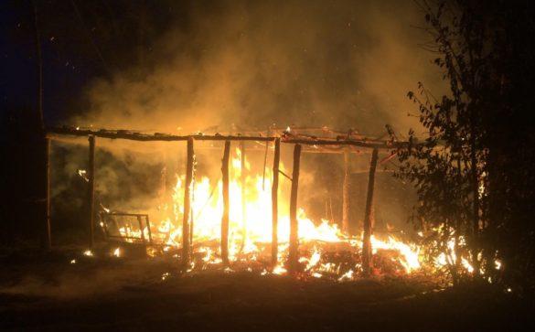 Pożar drewnianej wiaty w Zasolu – ZDJĘCIA!