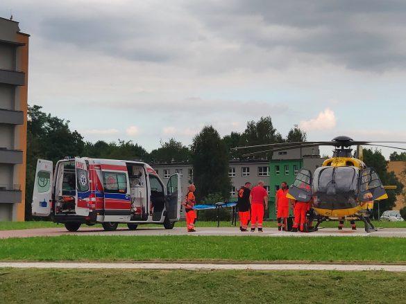 Ranny z wczorajszego wypadku po NZK. W akcji śmigłowiec LPR – ZDJĘCIA, FILM!