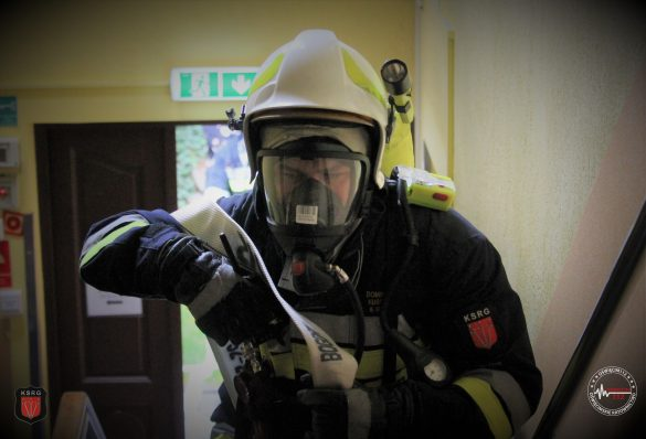 ZATOR Pożar w Domu Pomocy Społecznej Caritas. ZDJĘCIA