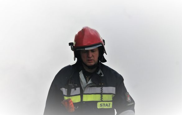 Pożar samochodu w Polance Wielkiej – ZDJĘCIA!