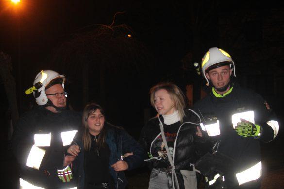 Ćwiczenia jednostek OSP z gminy Kęty w Bielanach