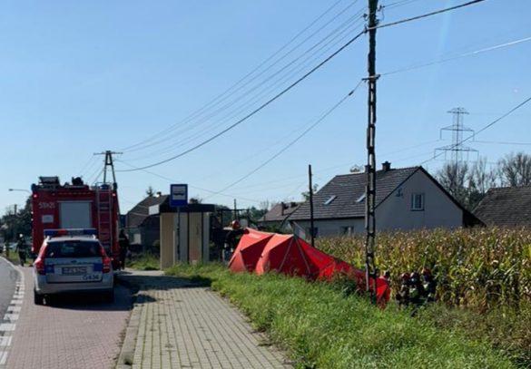 Śmiertelny wypadek w Grojcu. Nie żyje motocyklista – ZDJĘCIA!