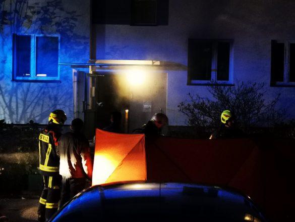 Pożar mieszkania w Kętach. Jedna osoba nie żyje a jedna jest poszkodowana – ZDJĘCIA, FILM!