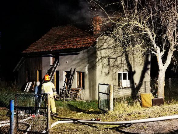 Pożar budynku gospodarczego w Osieku – ZDJĘCIA!
