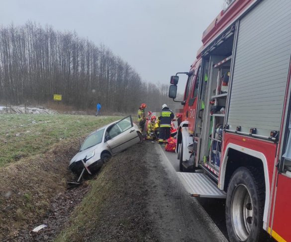 Wypadek na DW948 w Grojcu, wprowadzono ruch wahadłowy – ZDJĘCIA!