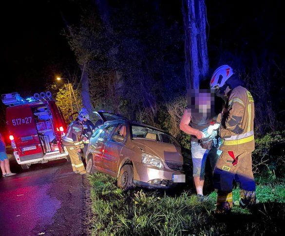 Pijany kierowca uderzył w słup energetyczny