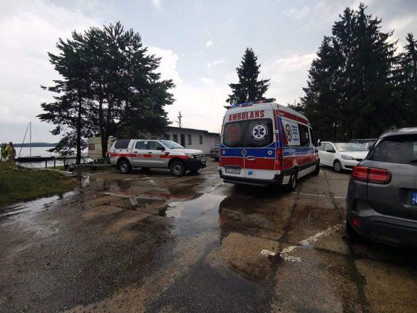 Przewrócona łódź na Zbiorniku Dziećkowice, w akcji strażacy z powiatu oświęcimskiego – ZDJĘCIA!