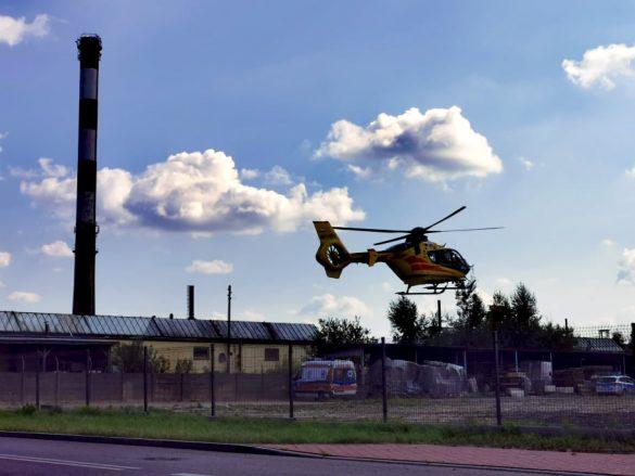 Nieszczęśliwy wypadek w Chełmku. W akcji śmigłowiec LPR – ZDJĘCIA!